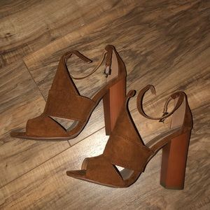 Suede heels!
